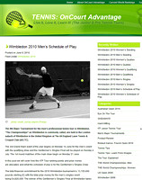 Andy Roddick - 2010 Winbledon Men's Schedule Of Play